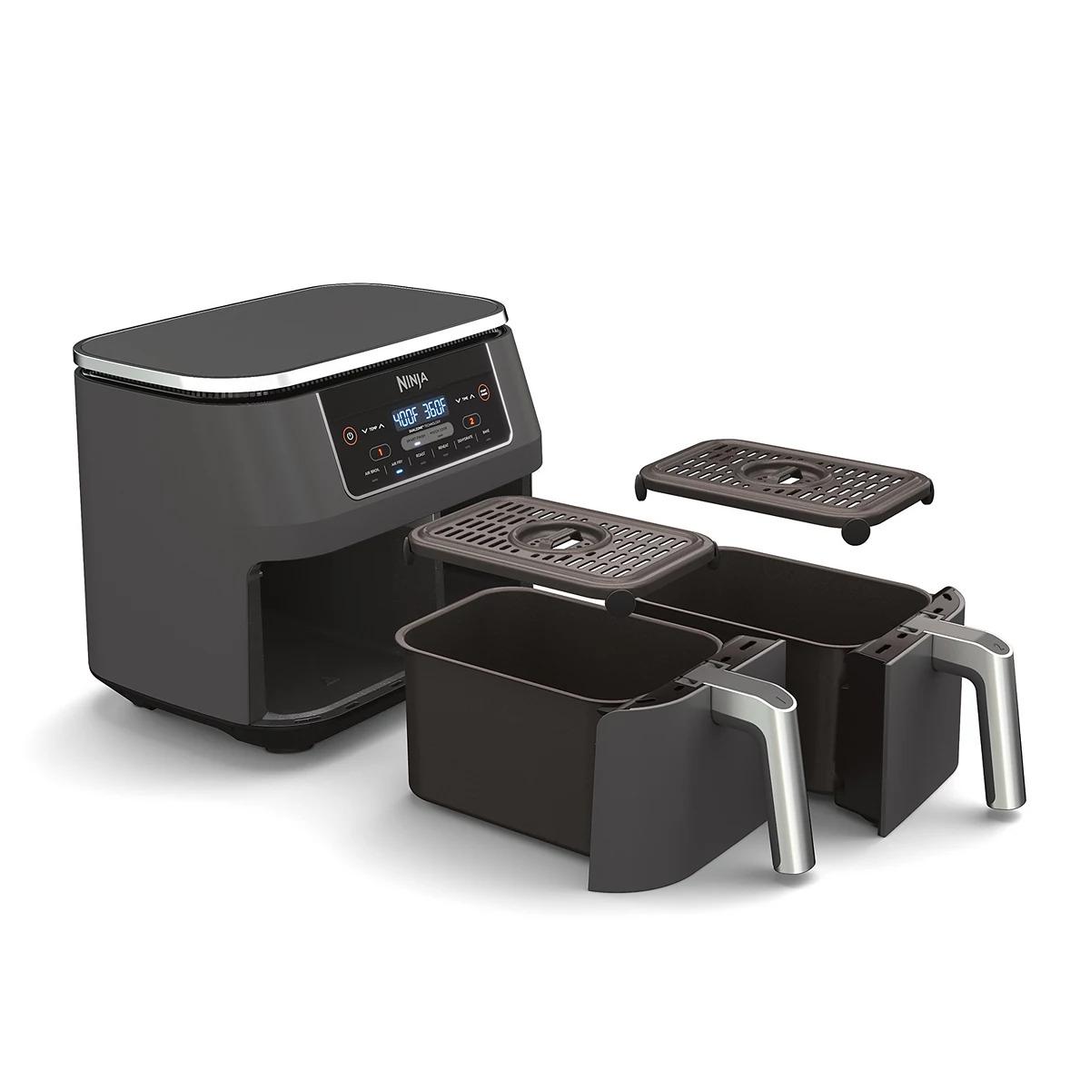Ninja Foodi 6-in-1 2-Basket Air Fryer with DualZone Technology DZ201