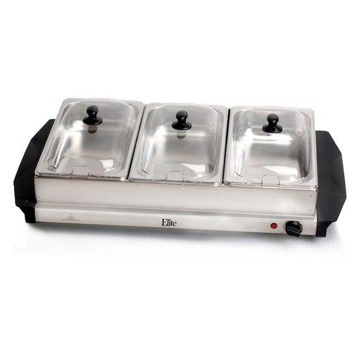 Elite Platinum EWM-6171 3-Tray Buffet Server