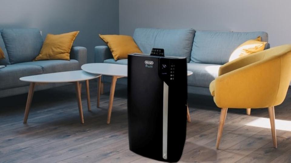 Pinguino 3-in-1 Portable Air Conditioner, Dehumidifier & Fan with Cool Surround Remote