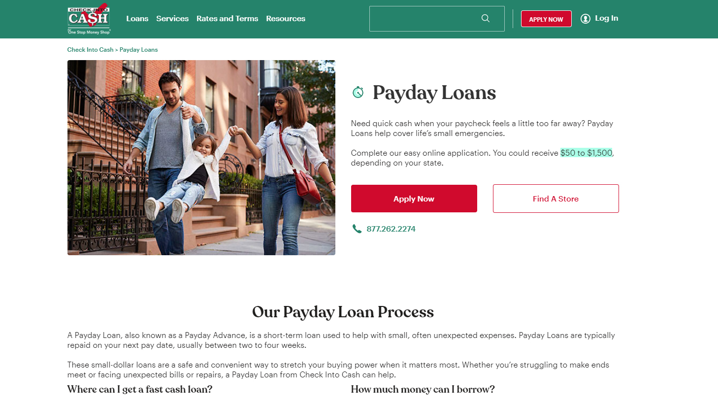 Check Into Cash Payday Loans