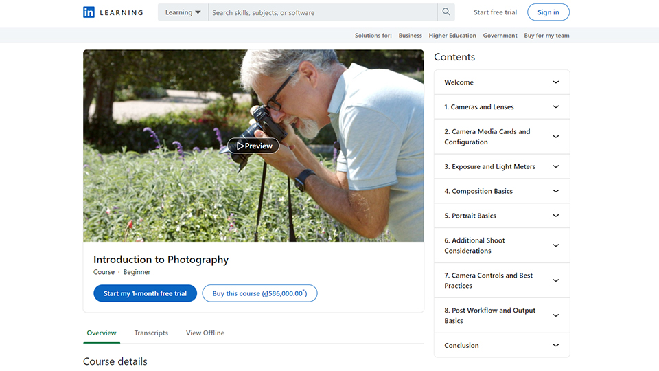 LinkedIn Photography Courses