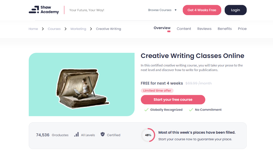 Shaw Academy Online Creative Writing Course