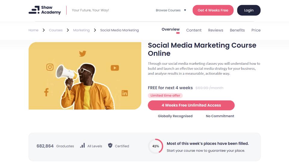 Shaw Academy Social Media Marketing Course Online