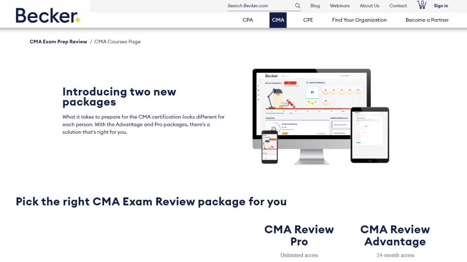 Becker CMA Review Course