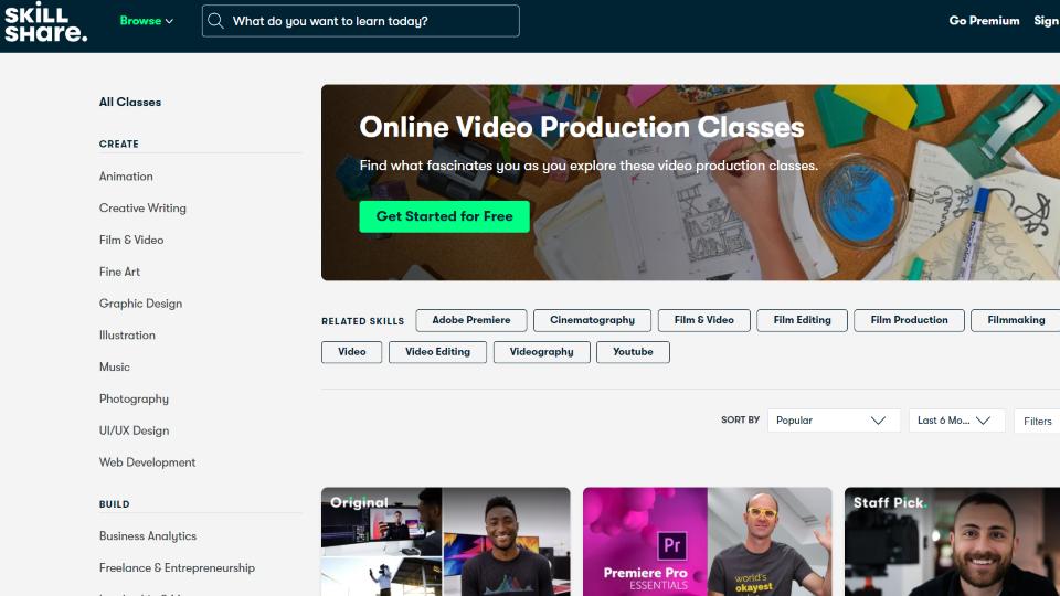 Skillshare Video Production Course