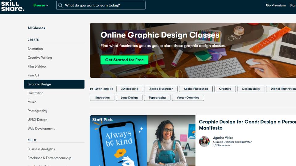 Skillshare Graphic Design Course