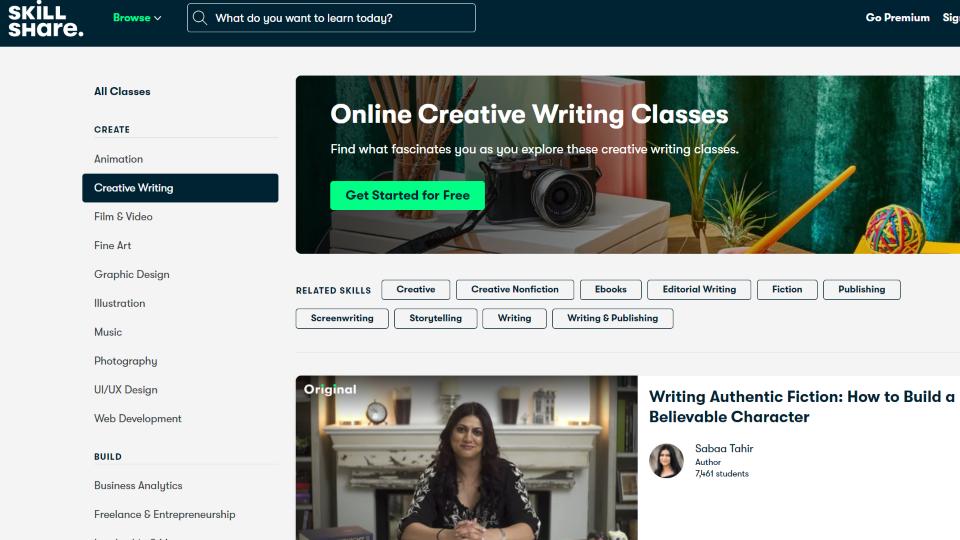 Skillshare Creative Writing Course