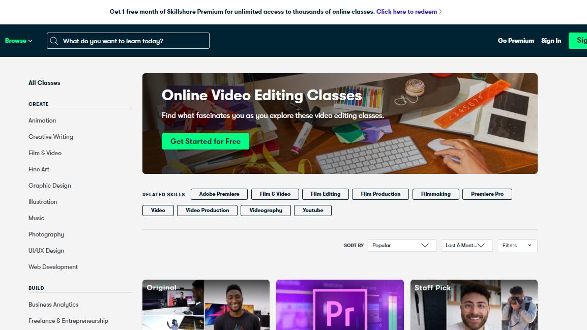 Skillshare Video Editing Courses