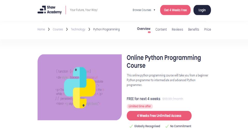 Shaw Academy Python Courses