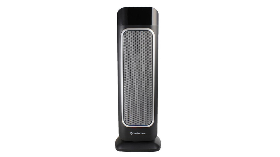 """Comfort Zone Portable 23"""" Oscillating Digital Tower Space Heater with Remote"""
