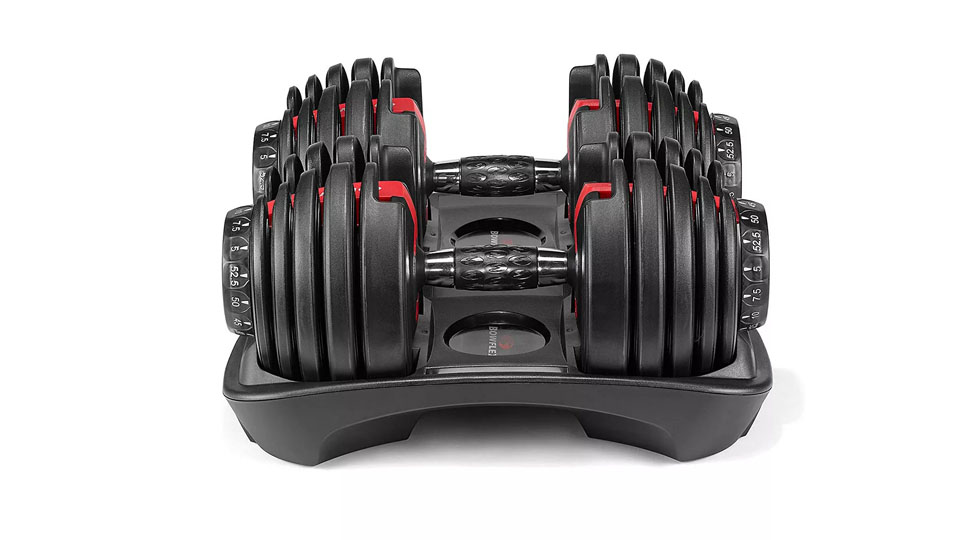 Bowflex SelectTech 552 Adjustable Workout Exercise Dumbbells Weight Set