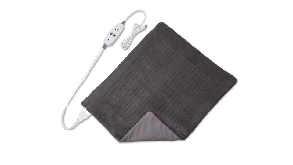 Sharper Image Calming Heat Massaging Weighted XXL Wide Heating Pad