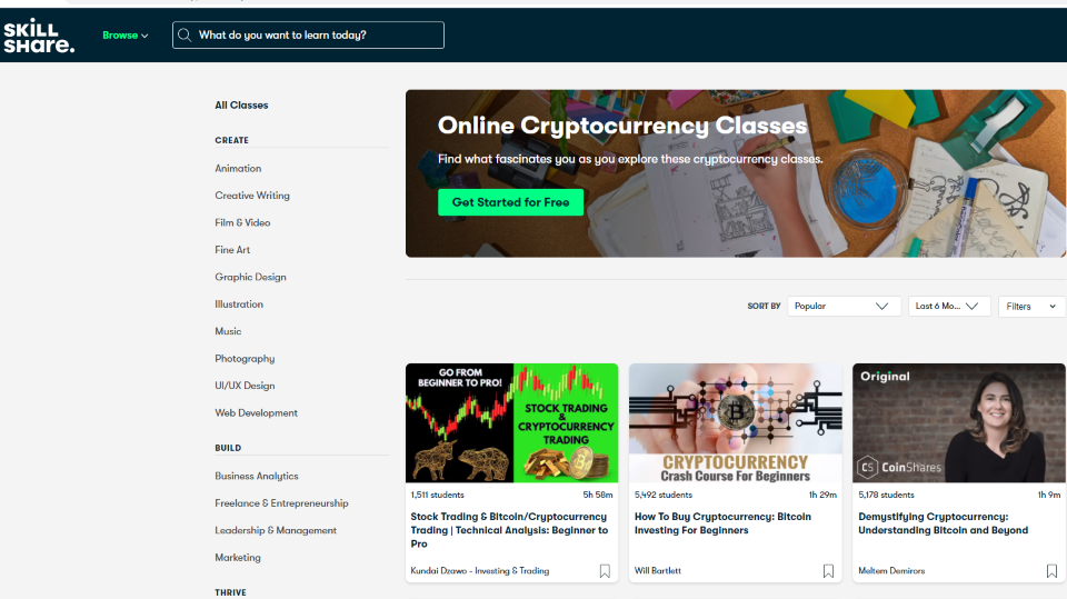 Skillshare Cryptocurrency Trading Courses