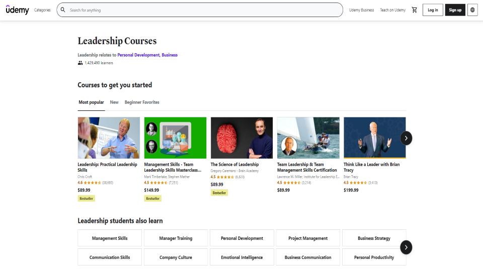 Udemy Leadership Courses