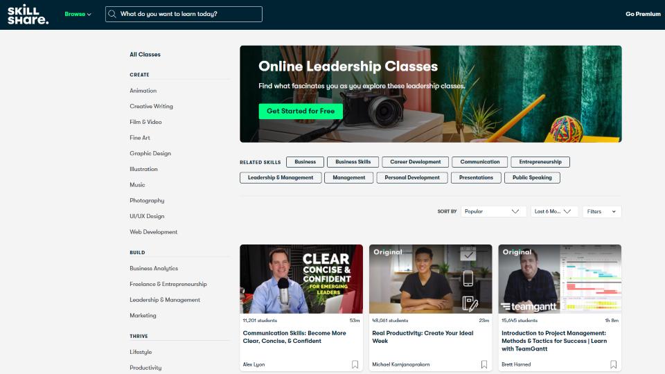 Skillshare Leadership Courses