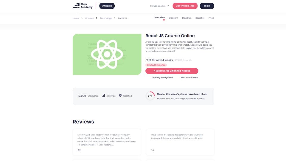 Shaw Academy Javascript Courses