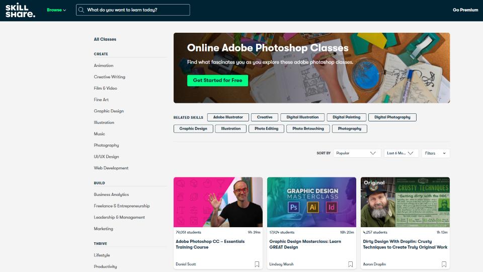 Skillshare Photoshop Courses