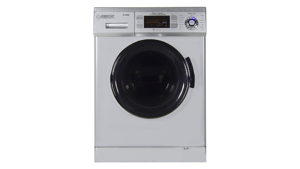 Equator Compact Vented/Ventless Dry Quiet 24 Inch Silver Washer Dryer Combo