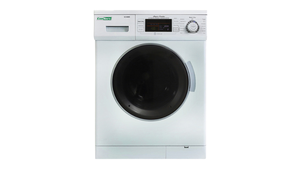 All-in-one 1200 RPM New Version Compact Convertible Combo Washer Dryer in White